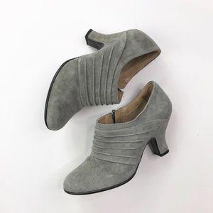 Strictly Comfort Gray Suede Heel Work Career Shoes